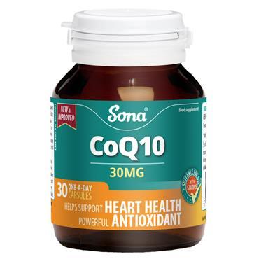 Sona CoQ10 30mg 30 Capsules