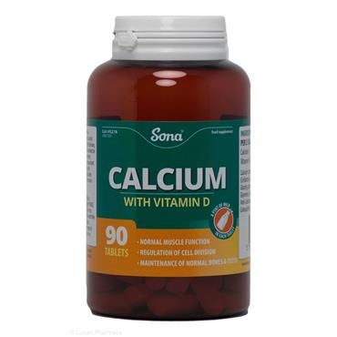 Sona Calcium with Vitamin D 90 Tablets