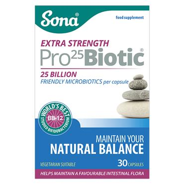 Sona Pro 25 Biotic Extra Strength 30 Capsules