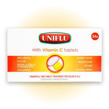 Uniflu With Vitamin C Tablets 24 Pack