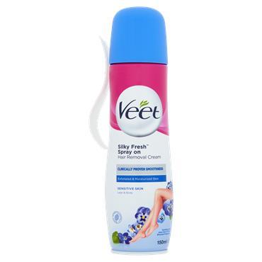 Veet Silky Fresh Spray On Hair Removal Cream 150Ml