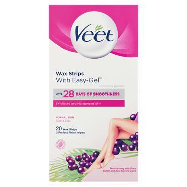 Veet Wax Strips Normal Skin With Easy-Gel 20 Wax Strips