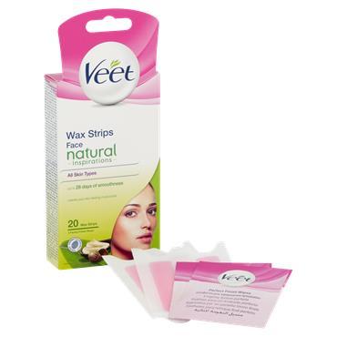 Veet Natural Inspirations Wax Strips Face 20 Wax Strips