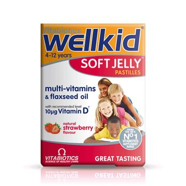 Vitabiotics Wellkid Soft Jelly Strawberry 30 Pastilles