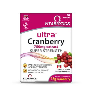 Vitabiotics Ultra Cranberry 30 Tablets