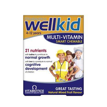Vitabiotics Wellkid Smart Chewable 30 Tablets