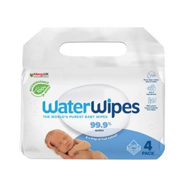 WaterWipes Baby Wipes Sensitive Newborn Skin (4 Packs of 60 Wipes)