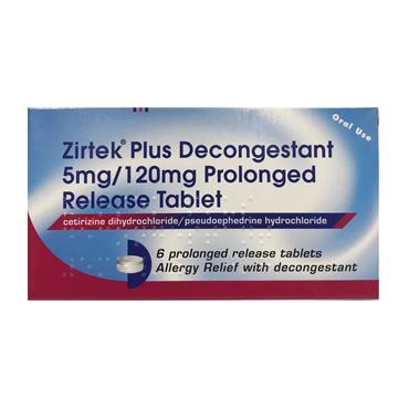 Zirtek Plus Decongestant 6s