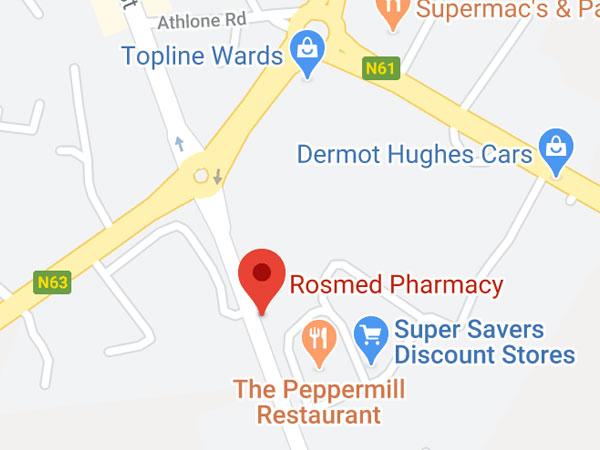 Rosmed Pharmacy, Golf links Road, Co. Roscommon, F42 HY97