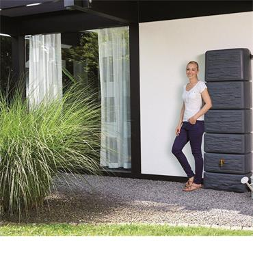 Slimline Wall Tank 300 Litres - Stone Décor