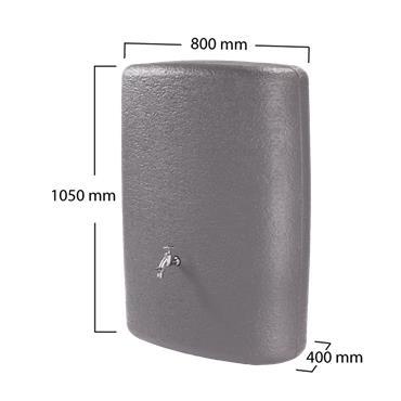 Terranova - Wall Tank 275 Litres - Graphite Grey