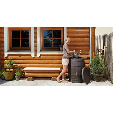 Barrica Rainwater Barrel - 260 Litres - Brown