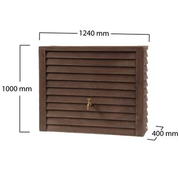 Wood Effect Wall Tank - Darkwood - 350 Litres