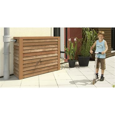 Wood Style Wall Tank - Lightwood - 350 Litres