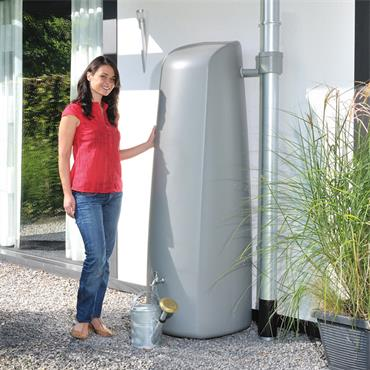 Elegance - Wall Tank 400 Litres - Stone Grey