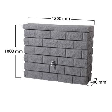 Rock Wall Tank - Dark Granite - 400 Litres