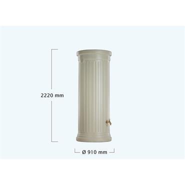 Column Tank - 1000 Litres - Sandstone