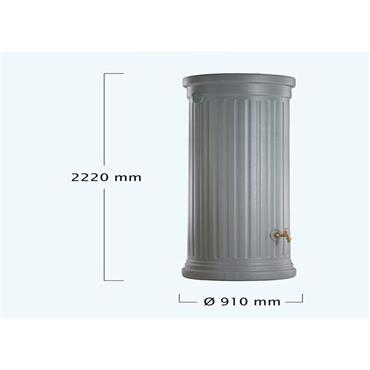 Column Tank - 1000 Litres - Grey