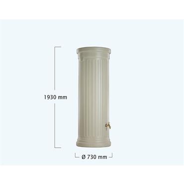 Column Tank - 500 Litres - Sandstone