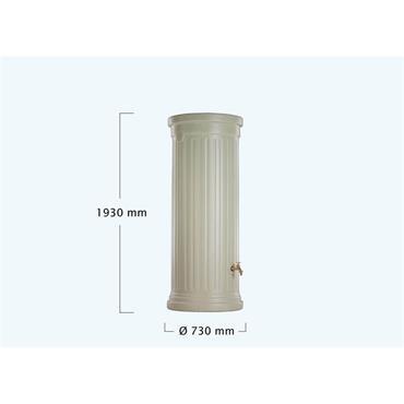 Column Tank - 500 Litres - Grey