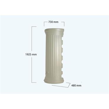 Column Wall Tank - 350 Litres - Sandstone