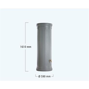 Column Tank - 330 Litres - Grey