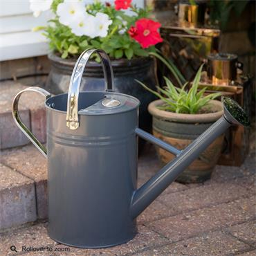 Metal Watering Can Cool Grey 4.5ltr