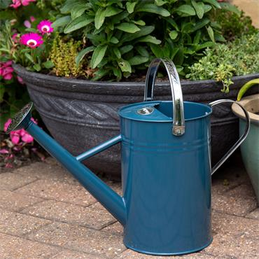 Metal Watering Can Midnight Blue 4.5ltr