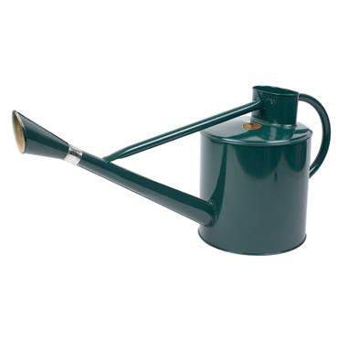 Long Reach Metal Water Can Green 9ltr