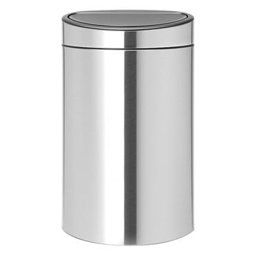 Touch Bin - 40L - Brilliant Steel