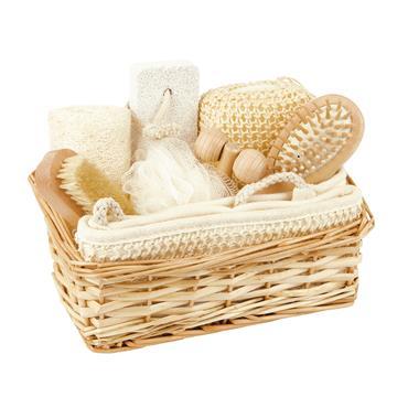Croll & Denecke Gift set Wicker Basket 8 pcs
