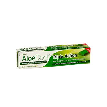 Aloe Dent Aloe Vera Toothpaste With Q10 & Tea Tree