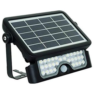 Solar Guardian Led Floodlight & Pir 5W Black