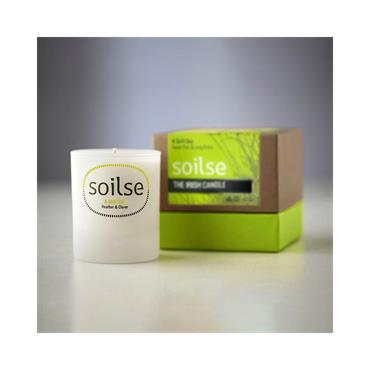 Soilse Gift Box Glass Candle - A Soft Day  Sweet Rain and Long Grass