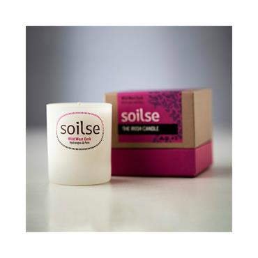Soilse Gift box Glass Candle - Wild West Cork Hydrangea and Fern