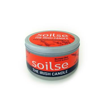 Soilse Travel Tin Candle - Donegal Dew Heather and Clover