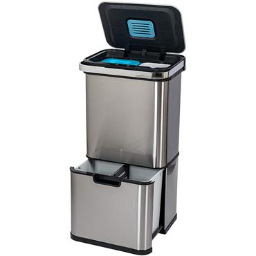 Addis 50 Litre Recycling Sensor Tower Bin with 4 compartments