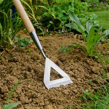Garden Life Stainless Steel Dutch Hoe