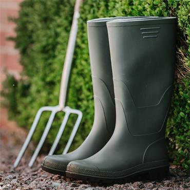 Traditional Full Length Welly Green Size 12