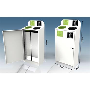 Waste Solutions 2 Way Slimline Metal Recycle Bin