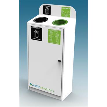 2 Way Slimline Metal Recycle Bin
