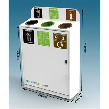 3 Way Slimline Recycling Bin