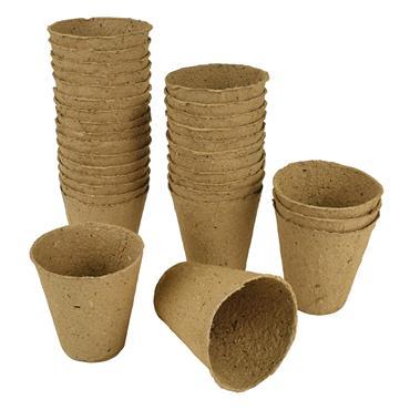 Gardman 8cm Round Fibre Pots