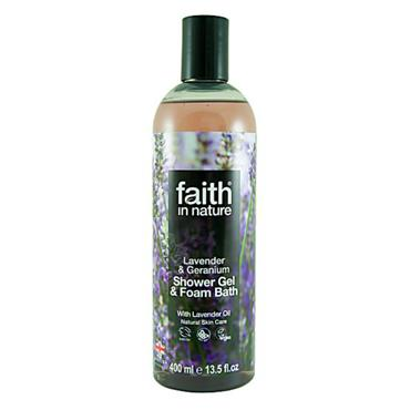 Faith in Nature - Lavender & Geranium Shower Gel / Foam Bath