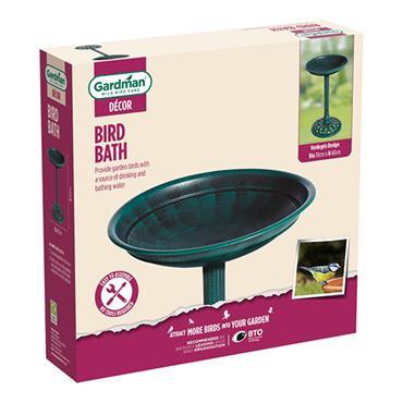Gardman Verdigris Effect Plastic Bird Bath