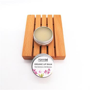 Airmid Irish Beeswax Lip Balm - Organic Rose Geranium