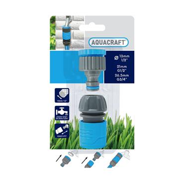 Aquacraft Tap Connector Set 1/2in - 3/4 Inch