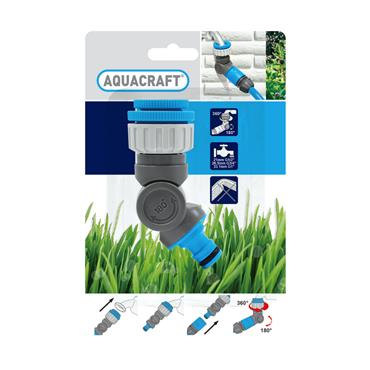 Aquacraft Angled Adjustable Threaded Tap Connector