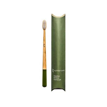 Truthbrush Olive Medium toothbrush