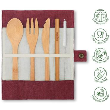 Bambaw Cutlery Set Berry